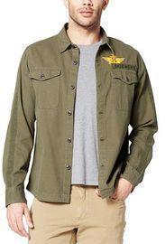 Dockers Men's Military Shirt Jacket