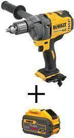 DEWALT FLEXVOLT 60V MAX Brushless Cordless 1/2 Mixer/Drill + Battery