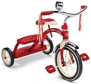 Radio Flyer Classic Red Dual Deck Tricycle, 12 Front Wheel