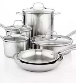 10pc Calphalon Stainless Steel Cookware Set + Free Gift
