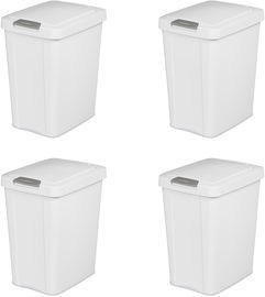 Sterilite 7.5-Gallon TouchTop Wastebasket 4-Pack
