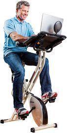 FitDesk Desk Exercise Bike & Workstation w/ Massage Bar