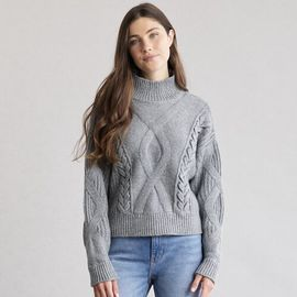 Women's Elizabeth and James Cable-Knit Turtleneck Sweater