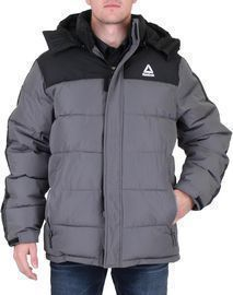 Reebok Men's Insulated Quilted Colorblock Winter Puffer Coat