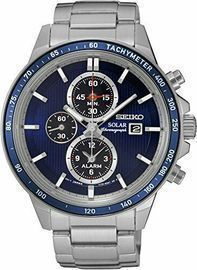 Seiko Men's Solar Chronograph Quartz 100m Watch (2 Styles)