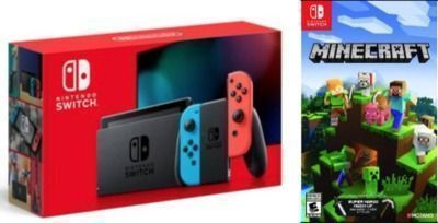 Nintendo Switch Console w/ Minecraft Game
