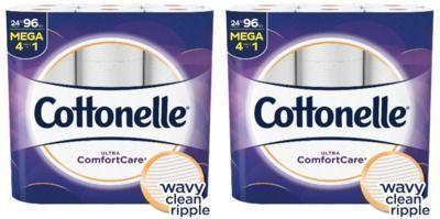 2x Cottonelle Ultra Comfortcare Toilet Paper, 24 Mega Rolls