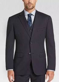 Awearness Kenneth Cole Men's Slim Fit Vested Suit