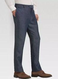 Joseph Abboud Indigo Linen Modern Fit Pants
