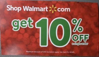 Walmart - 10% Off Coupon (via eBay)