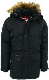 Canada Weather Gear Men's Fur Trim Hooded Parka
