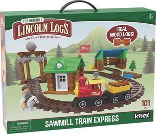 Lincoln Logs Sawmill Express Buildable Train Track