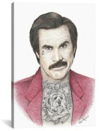 Ron Burgundy - Inked Ikons Collection Wall Art
