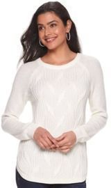 Women's Sonoma Twisted Cable-knit Pullover Sweater