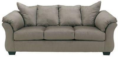 Signature Design by Ashley Audrey Fabric Pad-Arm Sofa