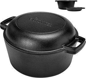 Pre-Seasoned Cast Iron Skillet and Double Dutch Oven Set