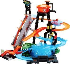 Hot Wheels City Ultimate Gator Car Wash Play Set