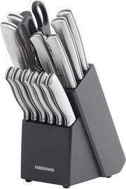 Farberware 15-Piece Stainless Steel Knife Block Set