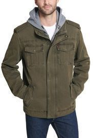 Men's Levi's Sherpa-Lined Hooded Military Trucker Jacket