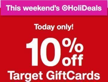 Target - Today Only! 10% Off Target Giftcards
