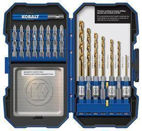 Kobalt 40pc Set Titanium Coated HSS Twist Drill Bit Set