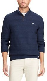 Men's Chaps Classic-Fit Button-Mock Sweater