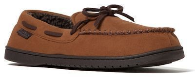 Men's Dearfoams Microsuede Whipstitch Trim Moccasin Slippers