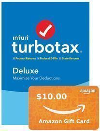 Intuit TurboTax 2019 Tax Software + $10 Gift Card