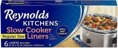 Reynolds Kitchens Premium Slow Cooker Liners, 6 Count