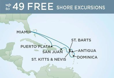 Luxe 10-Nt, All-Incl. Caribbean Cruise w/Air and Open Bar