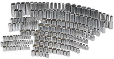 Husky 1/4, 3/8 & 1/2 200-Piece Drive Socket Set