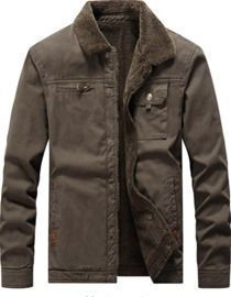 Vcansion Men's Classic Cotton Fleece-Lined Coat