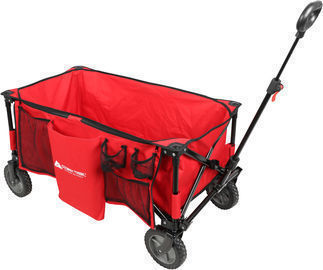 Ozark Trail Folding Wagon with Telescoping Handle, Red