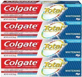 Colgate Total Whitening Toothpaste, 4.8 ounce (4 Pack)