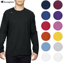 Champion Men's T390 Long Sleeve Logo Tee (Various Colors)