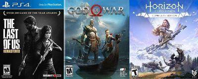 Last of Us, God of War, Horizon Zero Dawn Bundle (PS4)