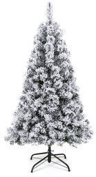 BCP 4.5ft Snow Flocked Hinged Artificial Pine Christmas
