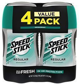 Speed Stick Deodorant for Men, Regular - 3oz (4pk)