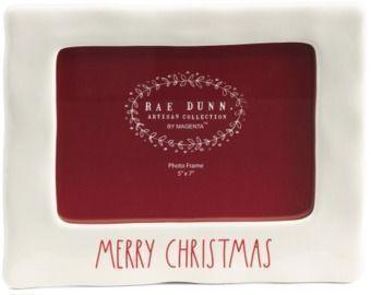 Rae Dunn Merry Christmas 5x7 Photo Frame