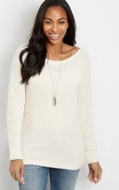 Ballet Neck Doman Pullover Sweater