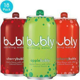 Bubly 18pk Sparkling Water, 3 Flavor Variety Pack 12oz Cans