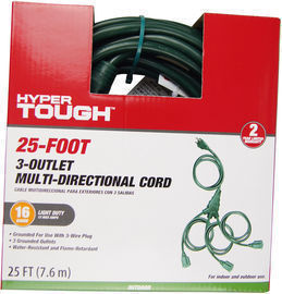 25-Foot Outdoor Multi-Directional Extension Cord