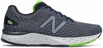 New Balance Men's 680v6 Shoes, Navy w/ Green