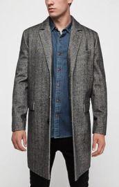 Men's Herringbone Wool-Blend Topcoat