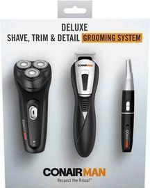 Conair ConairMan Deluxe Electric Shaver, Black