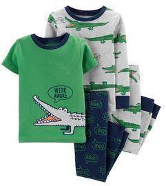Toddler Boy Carter's 4-Piece Alligator Snug Fit Pajama Set
