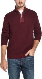Weatherproof Vintage Men's Waffle Knit Zip Sweater