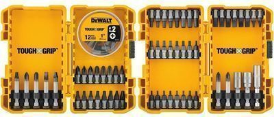 DEWALT Tough Grip 70pc. Steel Hex Shank Screwdriver Bit Set
