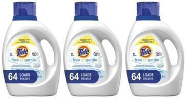 3x Tide Free and Gentle HE Laundry Detergent Liquid, 100 oz