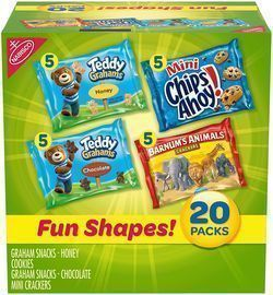 Nabisco Fun Shapes Cookie & Cracker Mix, 20ct Variety Pack